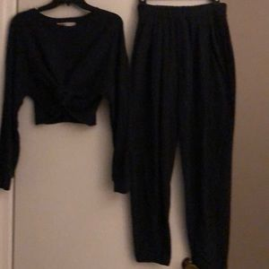Free People Pants & Jumpsuits - Free people 2 piece blue lounge  outfit, size S